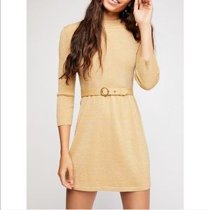Free People belted dress